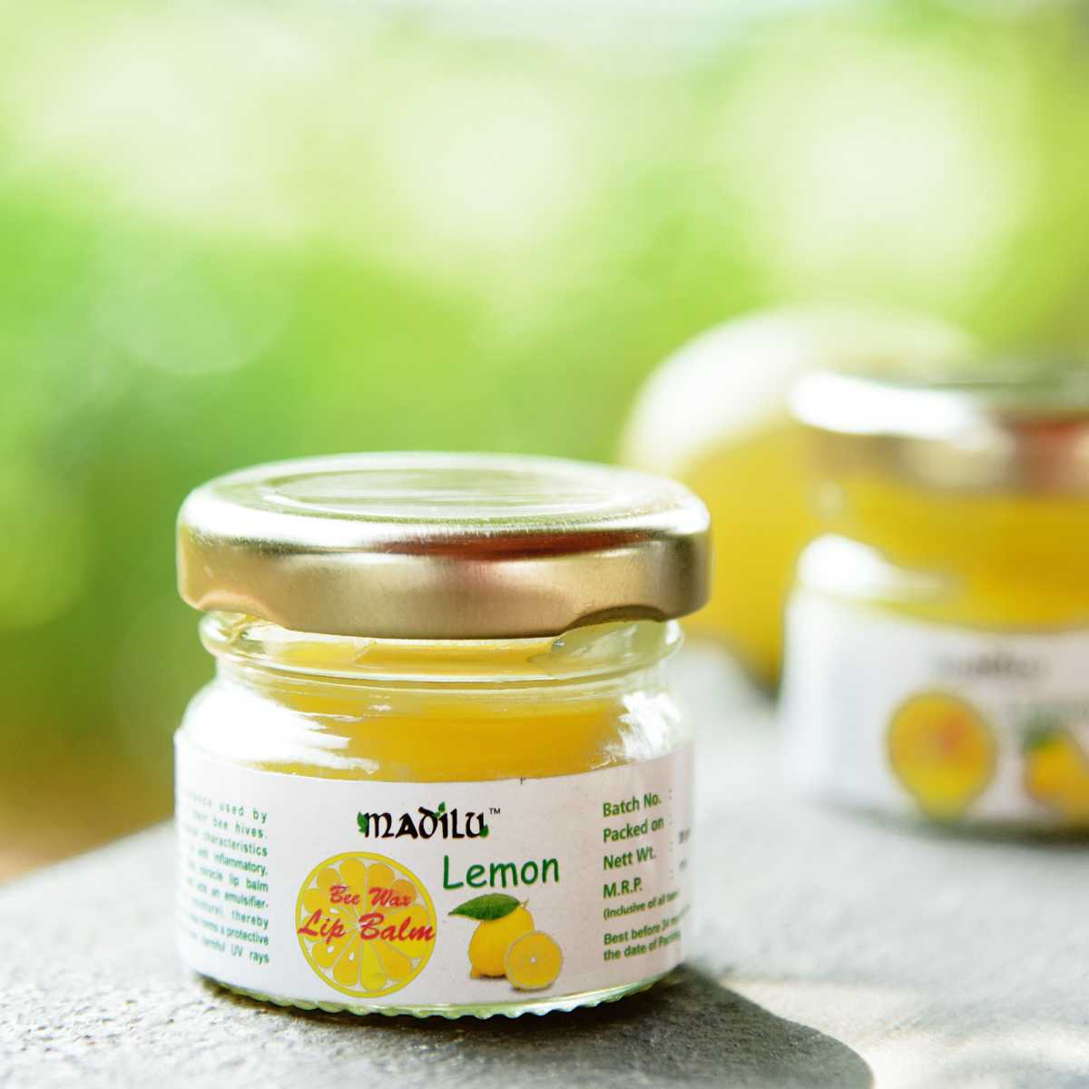 special bee wax lip balm - Lemon(set of 3)