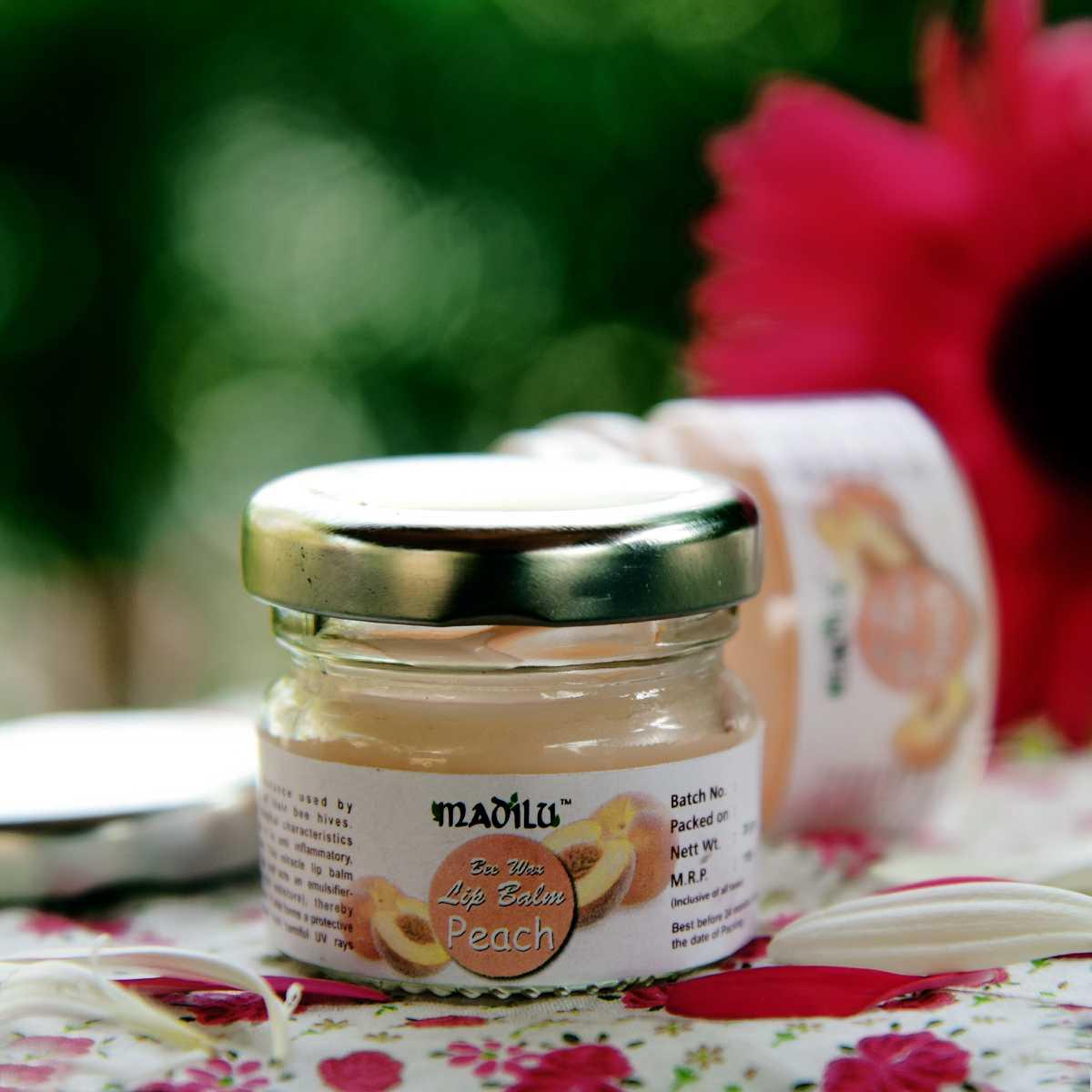 special bee wax lip balm - peach(set of 2)